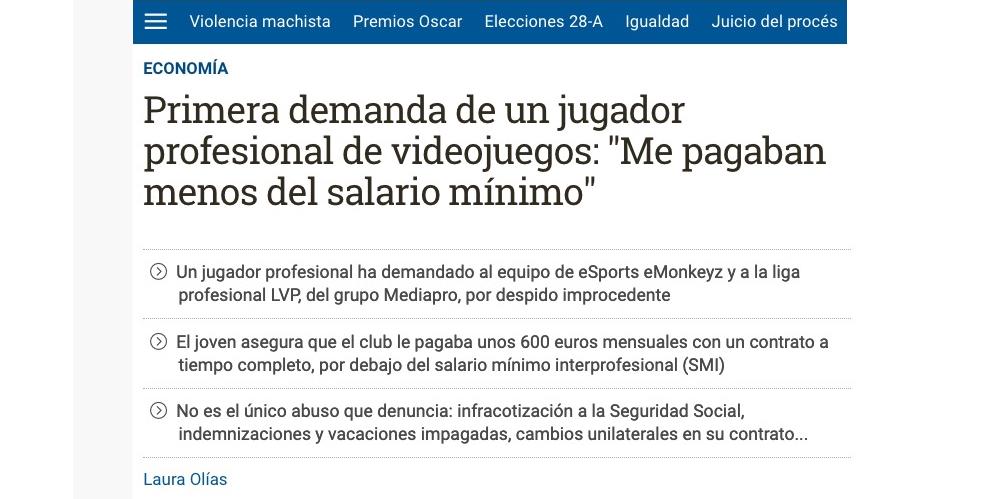 Captura de pantalla del Diario.es