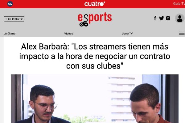 entrevista cuatro televisión alex barbarà